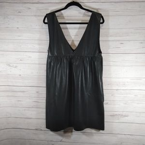 Zara Knit Faux leather jumper dress